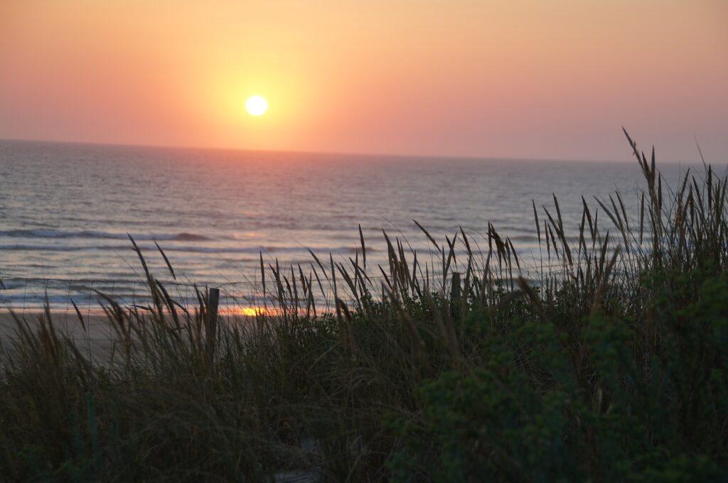 Biscarosse plage et coucher de soleil