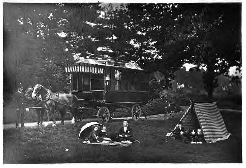 Photo du Land Yatch de l'anglais William Gordon Stables.